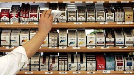 Продажа с прилавка сигарет