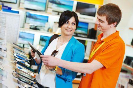 Помощь в магазине покупателям