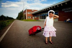 Девочка опоздала на поезд