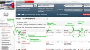 Пошаговые действия при покупке электронного билета РЖД