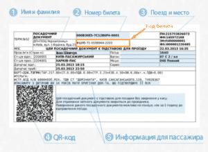 Посадочный купон электронного билета РЖД