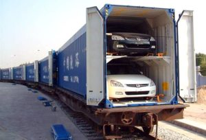 Перевозка авто в двухярусном вагоне