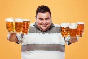 Ожирение от употребления пива