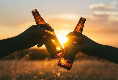 Распитие пива ночью