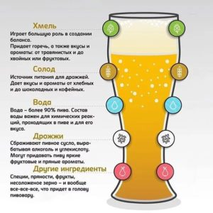 Влияние ингредиентов пива на его вкус