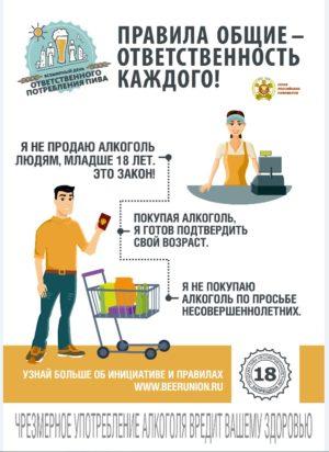 Ответственность каждого при покупке-продаже алкоголя