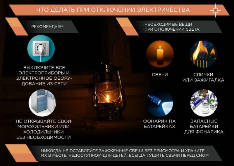 Где узнать про отключение света