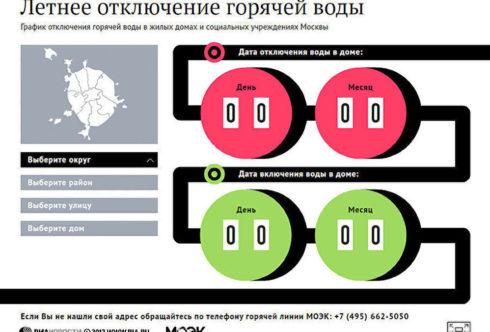 График ограничения горячего водоснабжения в Москве