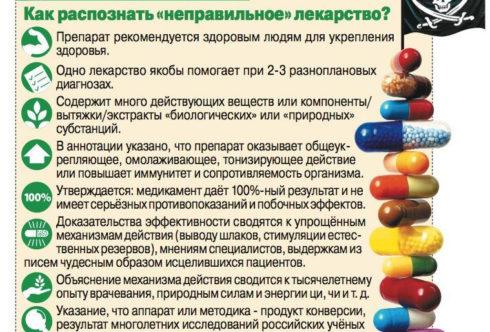 Как распознать неправильной лекарство
