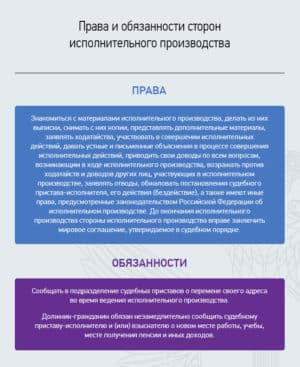 Права и обязанности сторон в ИП