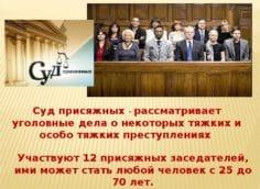 Дела рассматриваемые судом присяжных и их количество