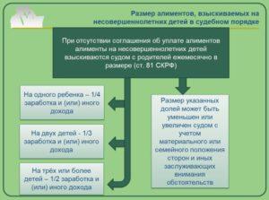 Размер алиментов, взыскиваемых в судебном порядке